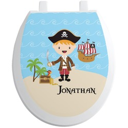 Pirate Scene Toilet Seat Decal (Personalized)