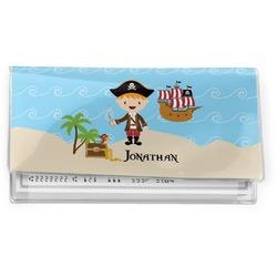 Pirate Scene Vinyl Checkbook Cover (Personalized)