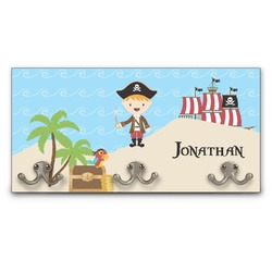 Pirate Scene Wall Mounted Coat Rack (Personalized)