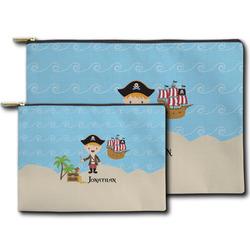 Pirate Scene Zipper Pouch (Personalized)