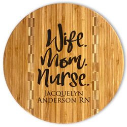 Nursing Quotes Bamboo Cutting Board (Personalized)