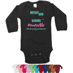 Nursing Quotes Bodysuit - Long Sleeves - 0-3 months (Personalized)