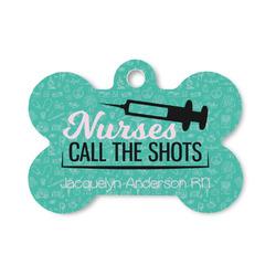 Nursing Quotes Bone Shaped Dog Tag (Personalized)
