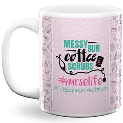Nursing Quotes 11 Oz Coffee Mug - White (Personalized)
