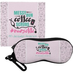 Nursing Quotes Eyeglass Case & Cloth (Personalized)