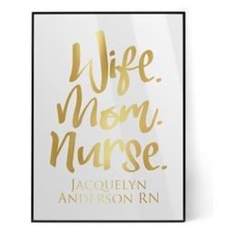 Nursing Quotes Foil Print (Personalized)