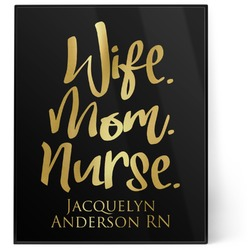 Nursing Quotes 8x10 Foil Wall Art - Black (Personalized)