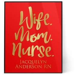 Nursing Quotes 8x10 Foil Wall Art - Red (Personalized)
