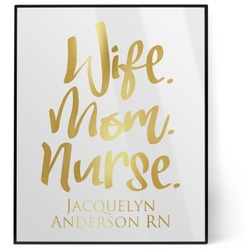 Nursing Quotes 8x10 Foil Wall Art - White (Personalized)