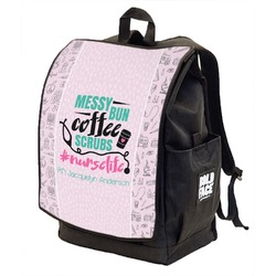 Nursing Quotes Backpack w/ Front Flap  (Personalized)