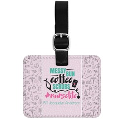 Nursing Quotes Genuine Leather Rectangular  Luggage Tag (Personalized)
