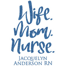 """Nursing Quotes Glitter Sticker Decal - Up to 6""""X6"""" (Personalized)"""