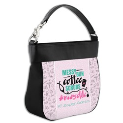 Nursing Quotes Hobo Purse w/ Genuine Leather Trim (Personalized)