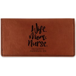 Nursing Quotes Leatherette Checkbook Holder (Personalized)