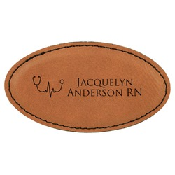 Nursing Quotes Leatherette Oval Name Badge with Magnet (Personalized)