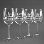 Nursing Quotes Wine Glasses (Set of 4) (Personalized)