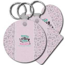 Nursing Quotes Plastic Keychains (Personalized)