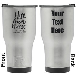Nursing Quotes RTIC Tumbler - Silver - Engraved Front & Back (Personalized)