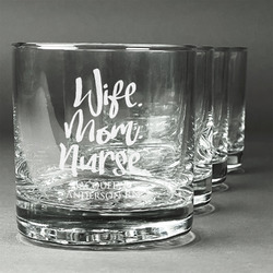 Nursing Quotes Whiskey Glasses (Set of 4) (Personalized)
