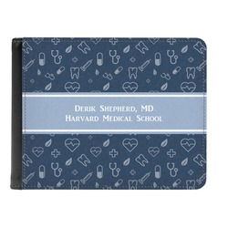 Medical Doctor Genuine Leather Men's Bi-fold Wallet (Personalized)