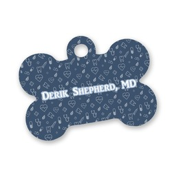 Medical Doctor Bone Shaped Dog ID Tag (Personalized)