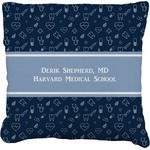 Medical Doctor Faux-Linen Throw Pillow (Personalized)