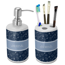 Medical Doctor Bathroom Accessories Set (Ceramic) (Personalized)