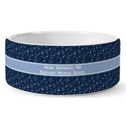 Medical Doctor Ceramic Dog Bowl (Personalized)