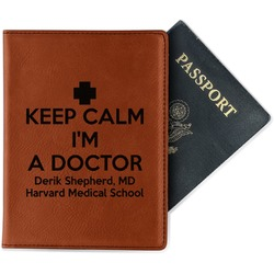 Medical Doctor Leatherette Passport Holder (Personalized)