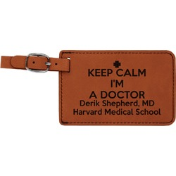 Medical Doctor Leatherette Luggage Tag (Personalized)