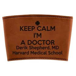 Medical Doctor Leatherette Cup Sleeve (Personalized)