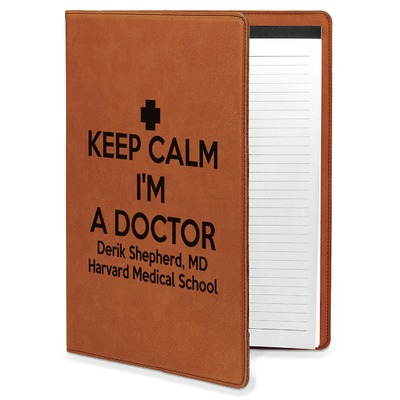 Medical Doctor Leatherette Portfolio with Notepad (Personalized)