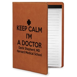 Medical Doctor Leatherette Portfolio with Notepad - Small - Single Sided (Personalized)