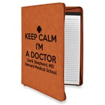 Medical Doctor Leatherette Zipper Portfolio with Notepad (Personalized)