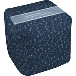Medical Doctor Cube Pouf Ottoman (Personalized)