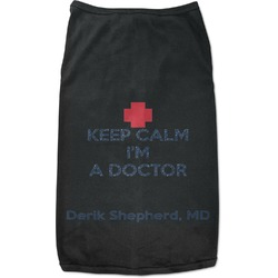 Medical Doctor Black Pet Shirt (Personalized)