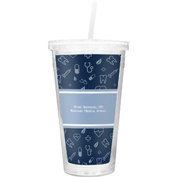 Medical Doctor Double Wall Tumbler with Straw (Personalized)