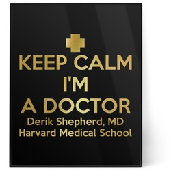 Medical Doctor 8x10 Foil Wall Art - Black (Personalized)