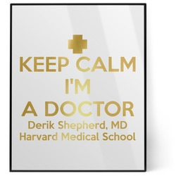 Medical Doctor 8x10 Foil Wall Art - White (Personalized)