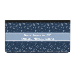 Medical Doctor Genuine Leather Checkbook Cover (Personalized)