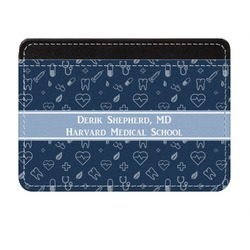 Medical Doctor Genuine Leather Front Pocket Wallet (Personalized)