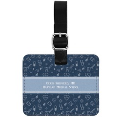 Medical Doctor Genuine Leather Rectangular  Luggage Tag (Personalized)