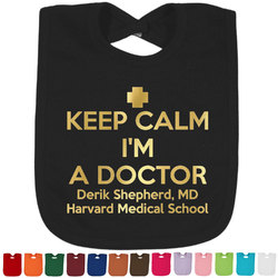 Medical Doctor Foil Baby Bibs (Select Foil Color) (Personalized)