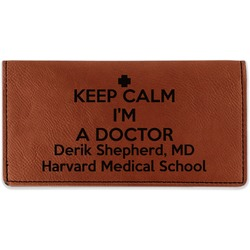 Medical Doctor Leatherette Checkbook Holder - Double Sided (Personalized)
