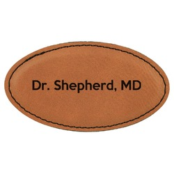 Medical Doctor Leatherette Oval Name Badge with Magnet (Personalized)