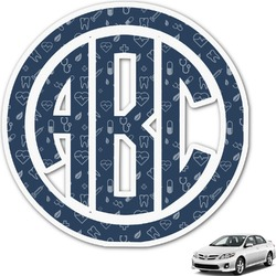 Medical Doctor Monogram Car Decal (Personalized)
