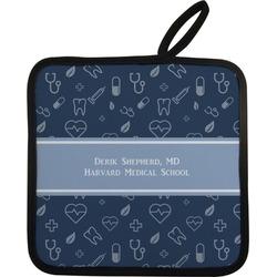 Medical Doctor Pot Holder w/ Name or Text