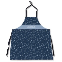 Medical Doctor Apron Without Pockets w/ Name or Text