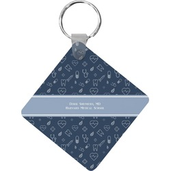 Medical Doctor Diamond Key Chain (Personalized)