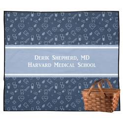Medical Doctor Outdoor Picnic Blanket (Personalized)